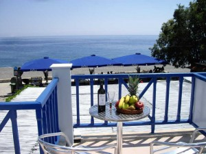 3- LOTOS -Rent Rooms-View from the balcony-Sougia