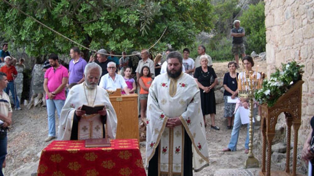 Agios Kirikos, the mass. Lissos